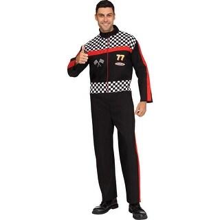 Mens Race Car Driver Uniform Costume - standard - one size