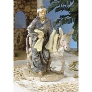 "Fontanini 7.5"" Baruch With Donkey Christmas Nativity Figurine #54814"