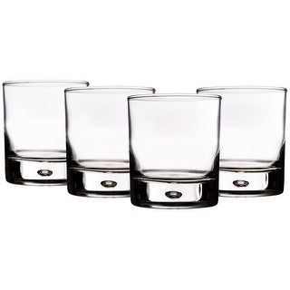 Home Essentials Red Series Bubble Tumblers - Set of 4 Glasses