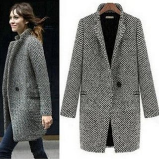 Fashion Wool Women  Medium-Long  Winter Jacket Women Woolen Outerwear