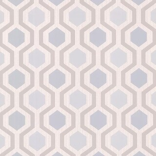 Brewster 347-20135 Marina Grey Modern Geometric Wallpaper