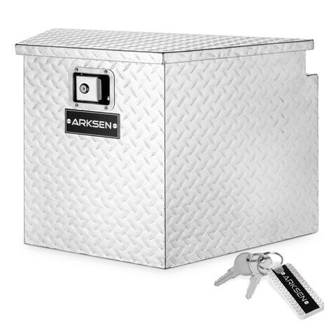 "ARKSEN 29"" / 39"" Aluminum Trailer Tongue Box Pickup Tool Box Storage"