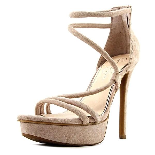 Jessica Simpson Caela Open Toe Suede Platform Heel