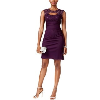Betsy & Adam Womens Semi-Formal Dress Lace Sequined