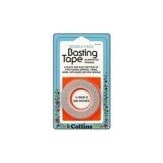 Collins Basting Tape Double Sided 1/8x200""