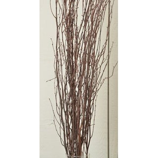 Decorative Natural brown Birch Branches 5 stems per bunch, 3-4 feet tall -- Case of 60 branches