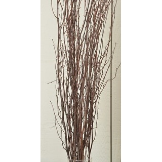 Decorative Natural brown Birch Branches 5 stems per bunch, 3-4 feet tall --  Single Bunch
