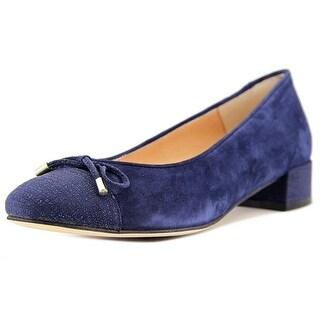 Andre Assous Vera Women Round Toe Suede Blue Flats