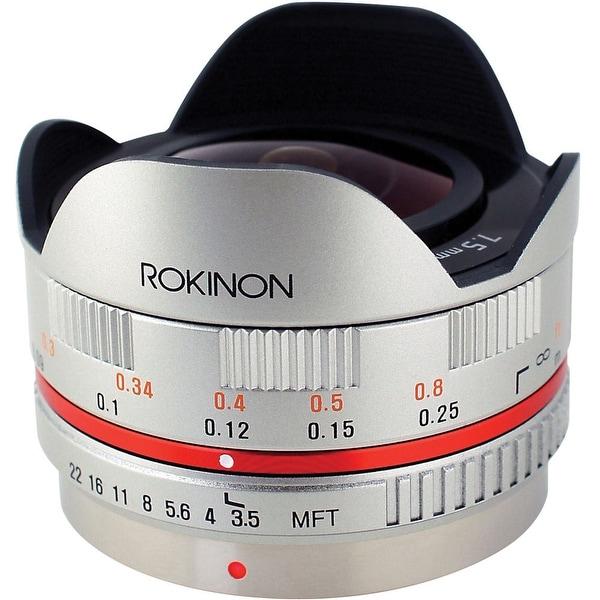 Rokinon 7.5mm f/3.5 Ultra Wide-Angle Fisheye Lens for Micro 4/3 (Silver) - Silver