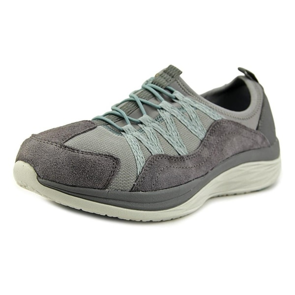 Easy Spirit e360 Halsten Women Round Toe Leather Gray Walking Shoe