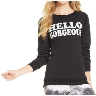 Jenni Womens Juniors Sweater Long Sleeves Graphic