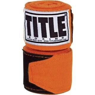 """Title Boxing 120"""" Semi Elastic Handwraps - Orange"""