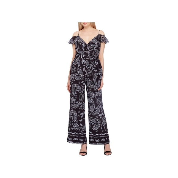 3a7427c065f Shop Tahari ASL Womens Plus Jumpsuit Paisley Cold Shoulder - Free Shipping  On Orders Over  45 - Overstock - 20969221