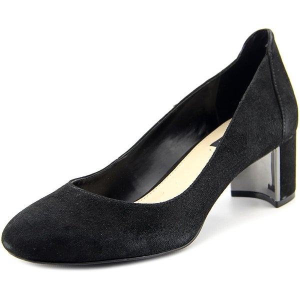 Jones New York Patty Women Round Toe Suede Black Heels