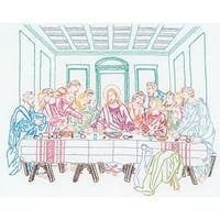 "Last Supper - Stamped White Sampler 11""X14"""