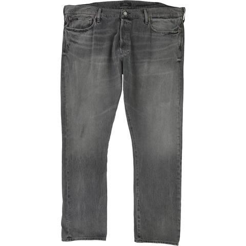 Ralph Lauren Mens Sullivan Slim Fit Jeans, Black, 42W x 32L - 42W x 32L