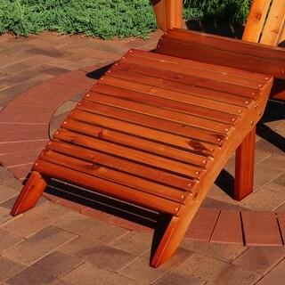 Sunnydaze Wooden Outdoor Adirondack Ottoman Footrest - Non-Toxic Paint Brown