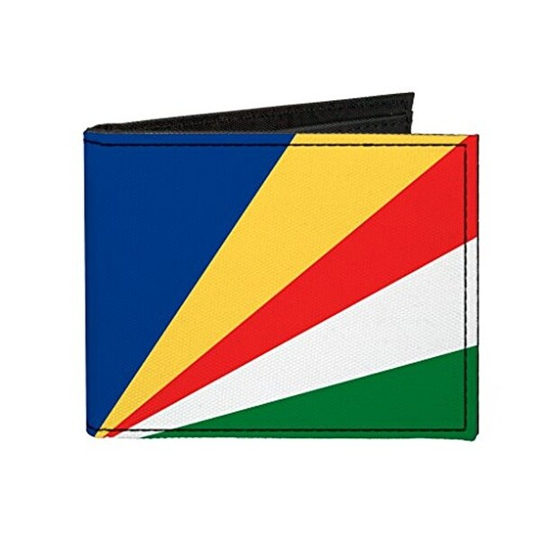 Buckle-Down Canvas Bi-fold Wallet - Seychelles Flag Accessory