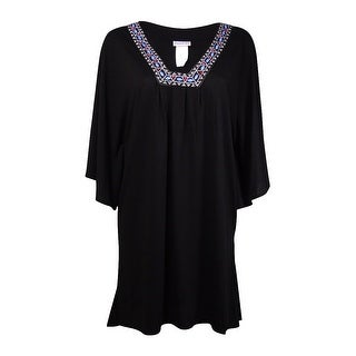 Dotti Women's Beaded Embroidered Coverup - Black