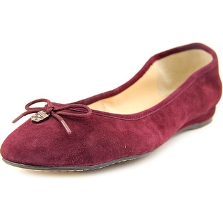 Vince Camuto Ria Women Round Toe Suede Burgundy Flats