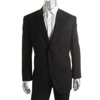 Sean John Mens Shadow Stripe Double Vent Two-Button Suit Jacket