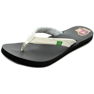 Sanuk Yoga Zen Women Open Toe Synthetic White Flip Flop Sandal