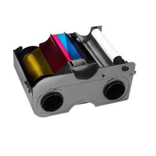 Fargo Electronics - Ymckok Fullcolor, 2X Blk, Clear Overlay