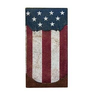 Roper Western Wallet Mens American Flag Leather OS Brown 8046000