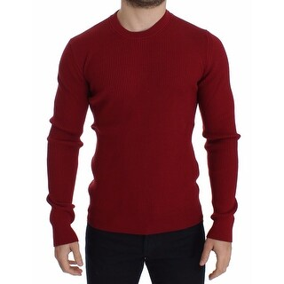 Dolce & Gabbana Dolce & Gabbana Red Knitted Wool Crewneck Sweater Pullover