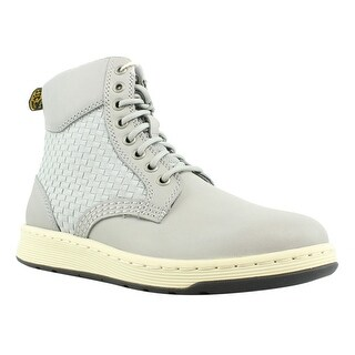 Dr. Martens Mens R21925053-053 Gray Ankle Boots Size 6