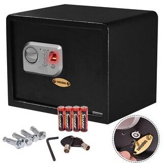 Costway 15'' Biometric Fingerprint Electronic Digital Wall Safe Box Keypad Lock Security