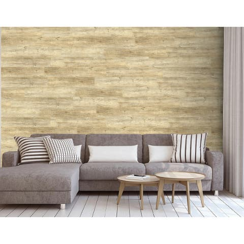 """Luxury Vinyl Wood Grain Sticker for Wall and Floor Use, 36""""x6""""/pc - 2Box"""