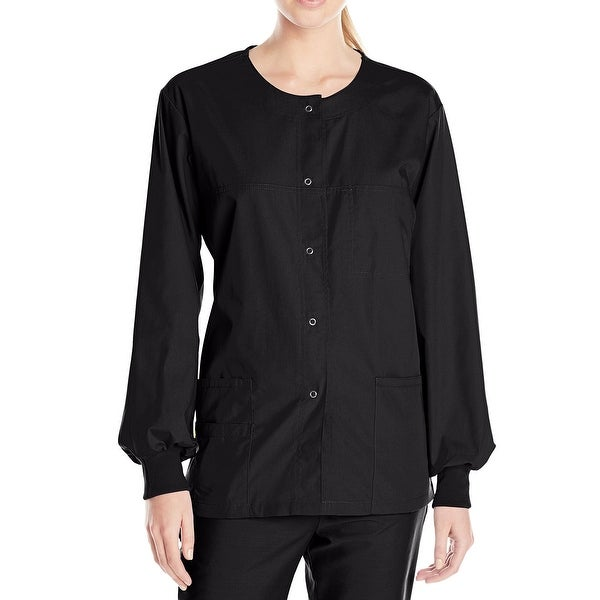 Shop WonderWink Black Womens Size XS Snap-Button Medical ...