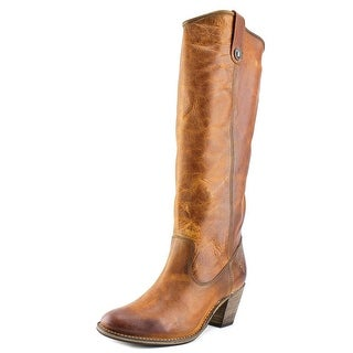 Frye Jackie Button Round Toe Leather Knee High Boot