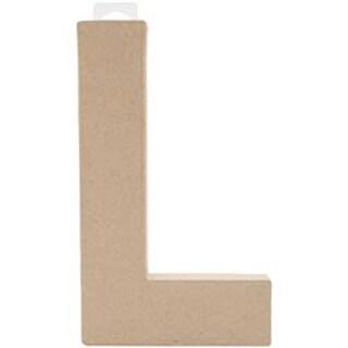 "L - Paper-Mache Letter 8""X5.5"""