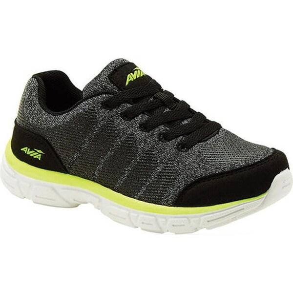 Shop Avia Boys' Avi-Rift Sneaker Black/Highlighter Lime ...