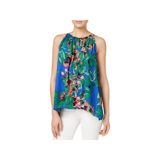 Rachel Rachel Roy Womens Blouse Floral Print Sleeveless