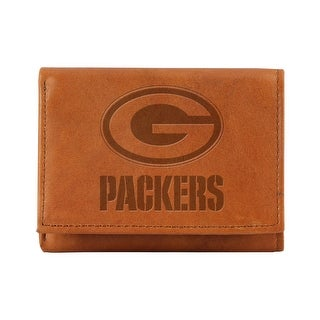 Embossed Leather Trifold Wallet - Green Bay Packers