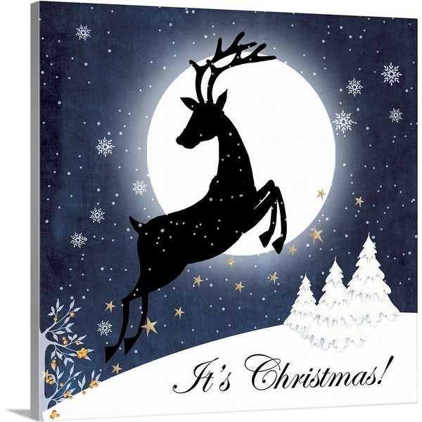"""It's Christmas"" Canvas Wall Art"