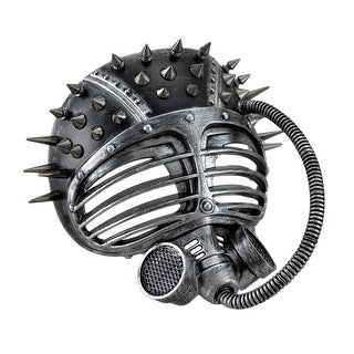 Metallic Finish Spiked Steampunk Full Face Submarine Diver Mask