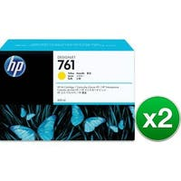 HP 761 400-ml Yellow DesignJet Ink Cartridge (CM992A)(2-Pack)