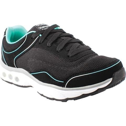 Therafit Women's Clarissa Walking Shoe Black Vegan Leather