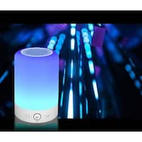TechComm L7 Wireless Bluetooth Speaker with Touch-activated LED Lamp, Digital Clock, FM Radio and Hands-free Calling