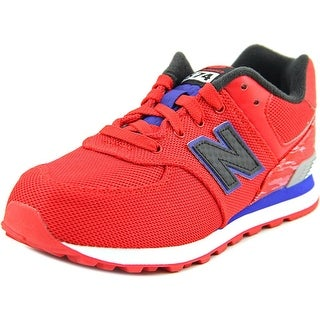 New Balance KL574 Youth W Round Toe Synthetic Red Sneakers