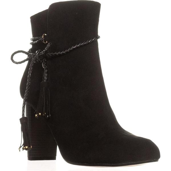 TS35 Palomaa Block-Heel Rope Lace Booties, Black