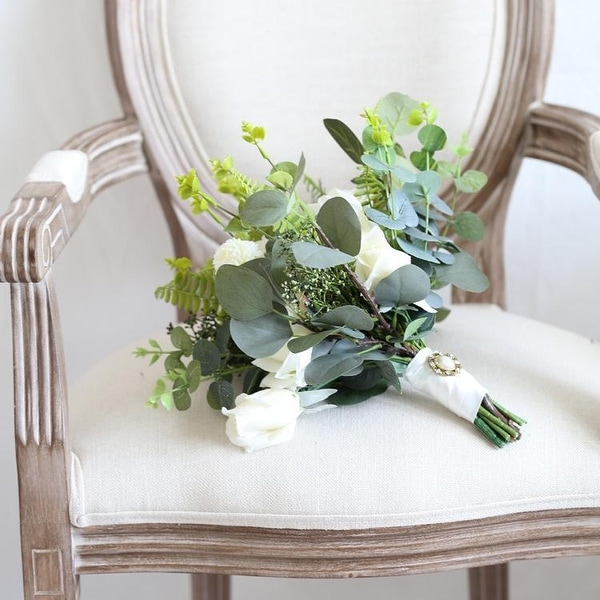 Wedding Bouquet The White Greenery Bridal Bouquet - Green