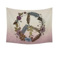 Stratton Home Decor  Botanical Peace Wall Tapestry, Vivid Color