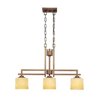 Dolan Designs 2819 Three Light Island Fixture from the Roxbury Collection - Gold