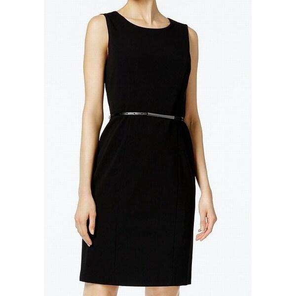 Shop Nine West Black Womens Size 12 Belted Scoop Neck