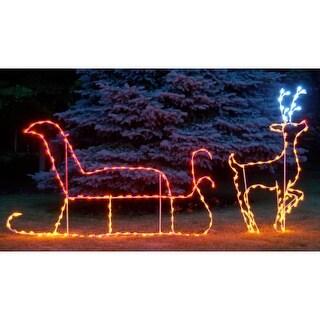 Christmas at Winterland WL-GM111-LED LED Light Santa with Reindeer